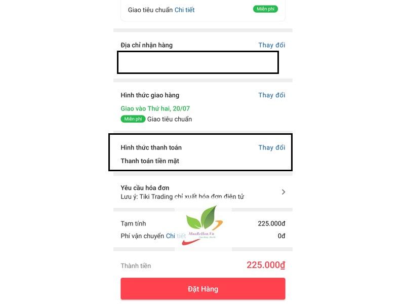 Cách mua hàng trên App tiki 7